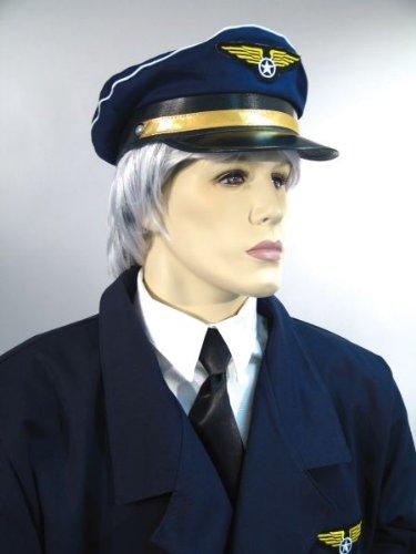 Pilotenmütze, blau