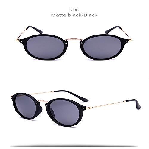 Wang-RX Weinlese-runde Sonnenbrille-Frauen-Retro- Farbton-Mann-Sonnenbrille-weibliche Eyewear-Mode Oculos 12colors