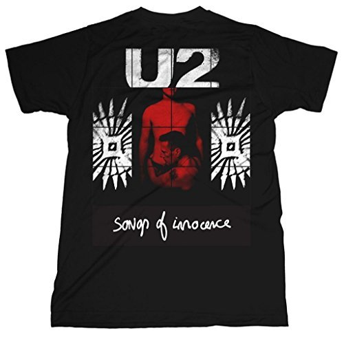 U2 Red Shade Album Songs of Innocence Rock ufficiale Uomo maglietta unisex (Small)