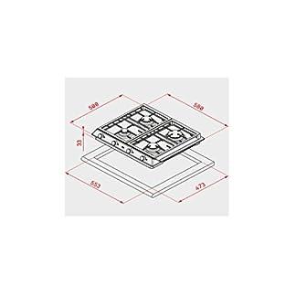 Teka EX 60 1 3G AI AL DR NAT Integrado Encimera de gas Acero inoxidable – Placa (Integrado, Encimera de gas, Acero inoxidable, hierro fundido, 1750 W, 2800 W)