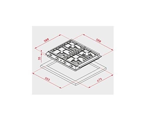 Teka EX 60 1 3G AI AL DR NAT Integrado Encimera de...