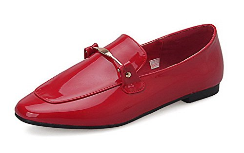 allhqfashion-womens-low-heels-solid-pull-on-patent-leather-square-closed-toe-flats-shoes-red-43