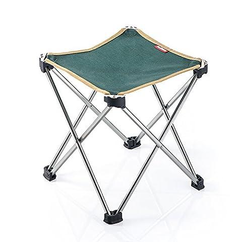 Tabouret trépied Chaise de camping pliable portable pour Voyage Plage Camping Pêche chasse Golf, Green
