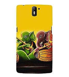 ifasho Designer Back Case Cover for OnePlus One :: OnePlus 1 :: One Plus One (Music Ganesha Turi Sahnai Avaneesh)