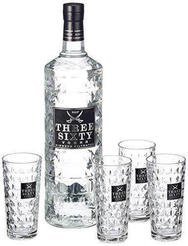 Three Sixty Vodka Longdrinkgläsern 37.5{09578c525db40302b5e964e1323bb89d90a25c1b666b45ab58dead3bbd603d3f} vol (1 x 3 l)