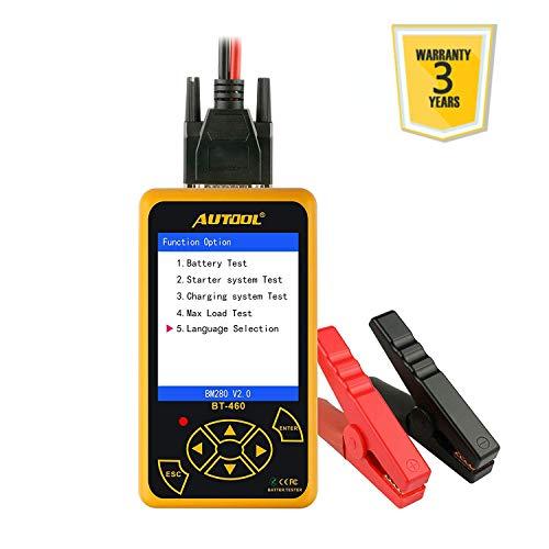 Autool BT-460 12V/24V 100-2400 CCA Auto Battery Tester per Tutte Le Auto Cranking e Sistema di Ricarica Strumento diagnostico con Grande Display colorato