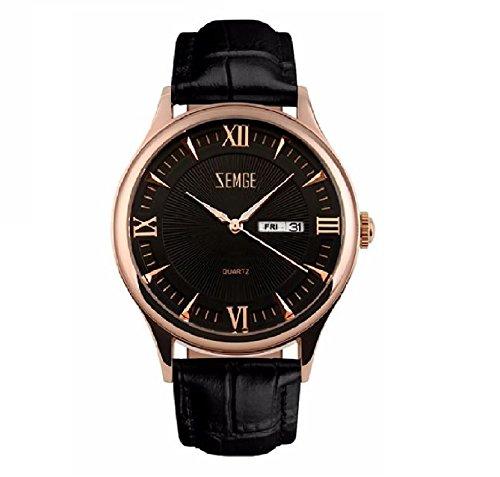 ZEMGE Hombres Reloj De Cuarzo AnalóGico Cronógrafo Fecha resistente al agua reloj de pulsera unisex Business Casual simple diseño clásico vestido rosa tono DW Boss ZC0111