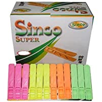 Sinco Super Cloth Clips Pegs Multicolor - Pack of 2 (24 Pieces)