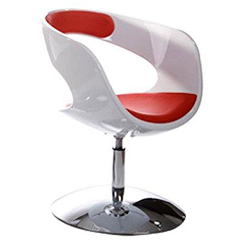 MK Fauteuil Design RHIN en ABS (polymère à Haute résistance) (Blanc Rouge)