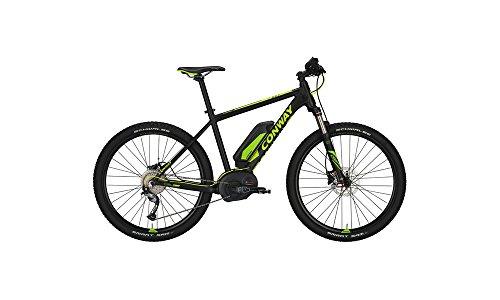 CONWAY EMR 227 SE E-Bike E Bike Pedelec Elektrofahrrad 27,5″ Herren 44cm S 400Wh Akku Mattschwarz Limette Modell 2017
