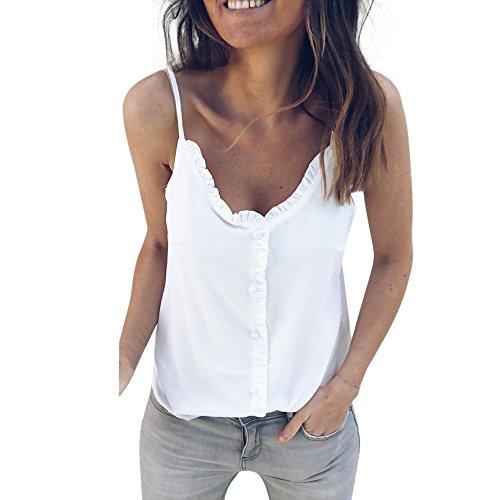 Camiseta Tirantes Mujer,riou Chaleco Color sólido