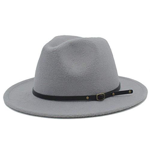 Sehr weich und angenehm zu tragen Winterherbst-Fedora-Hut mit Leder - Fedora-hut Tragen