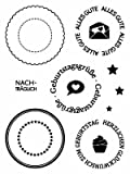 Clear Stamp-Set Stempel-Gummi - Karten-Kunst Geburtstag Runde Stempel Kreise Siegel