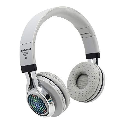 99native Drahtlose Kopfhörer Bluetooth 4.1 Kopfhörer mit Rauschunter drückung Kopfhörer und Radio Wireless Over Ear kopfhörer mit Mikrofon FM,Leicht Studio Kopfhörer Handy Headphones (Weiß)