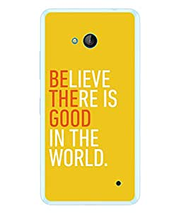 PrintVisa Designer Back Case Cover for Microsoft Lumia 640 LTE (Think once Cool quote)
