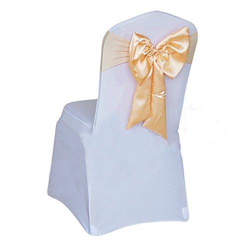 Yontree Lot 10 Noeuds papillon de Chaise Housse de chaise Pas besoin d'être Lié Décor Mariage Banquet Fête Baptême