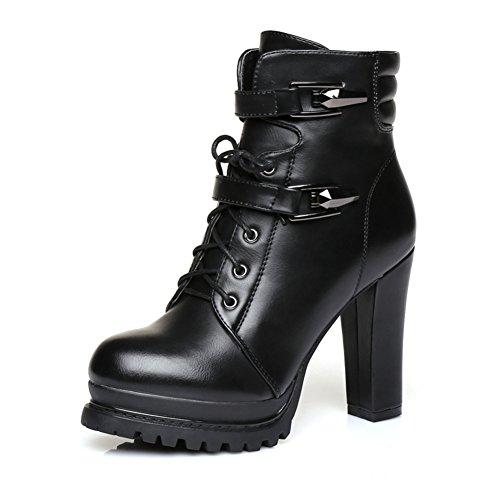 Stivali tacco alto/ nella versione coreana di/Vento British cinturino high heels-A Lunghezza piede=23.8CM(9.4Inch)
