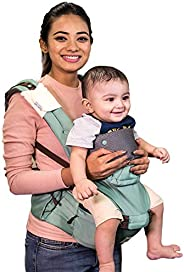 Polka Tots Ergonomic Baby Hip Seat / 6 in 1 Baby Carrier with Airbag Seat and Adjustable Waist and Excellent L
