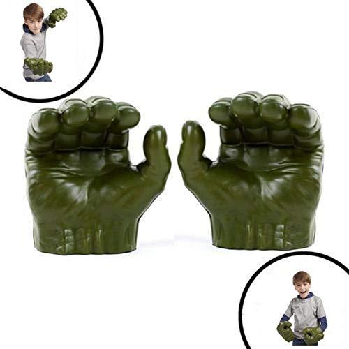 Neckip Hulk Handschuhe Für Kinder, Superheld Figur Hulk Spielzeug Hulk Faust Boxhandschuhe Cosplay Kostüm für Geburtstag Weihnachten
