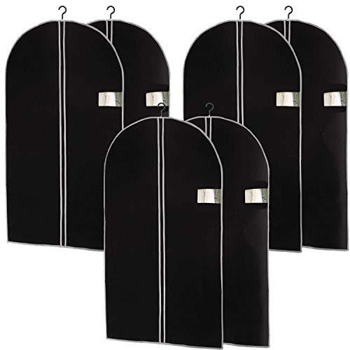 LS-LebenStil 6X Reise Kleidersack 100x60 Schwarz Vlies Kleiderschutzhülle