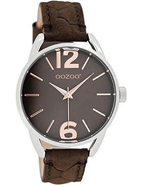 Oozoo Damen-/ Kinderuhr mit Lederband 38 MM Dunkelbraun/Dunkelbraun JR283