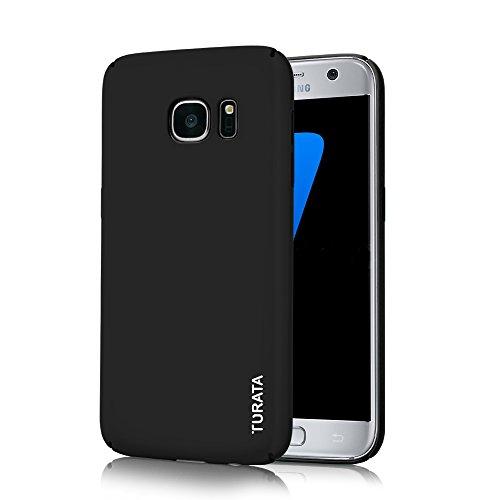 S7 Hülle Ultra Dünne Hautbeschaffenheit-Gefühl Handy Hülle PC Hartplastik Schutzhülle mit Premium Beschichtete und Rutschfeste Oberfläche Case Handyhülle für Samsung Galaxy S7 Schwarz