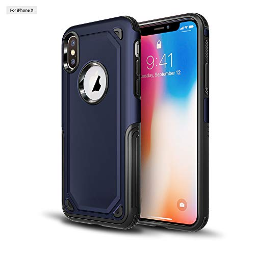 Funda Apple iPhone XS Max 6.5' Protectora Silicona TPU+PC 2 en 1 iX 5.8' Anti-choque Ultra-delgado Armadura Hombre de Acero Original Carcasa para iPhone XS 5.8' 2018 Fundas (XS Max, Oro)
