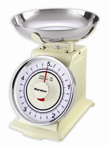Karcher WAK 811 Bilancia da Cucina Meccanica, Rétro, Color Magnolia