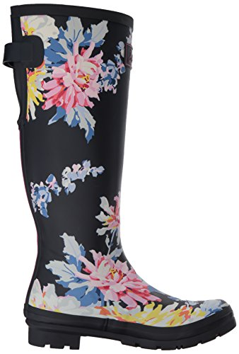 Joules Women's Welly Print Wellington Boots, Blue (Navy Whistable), 3 Uk 36 Eu