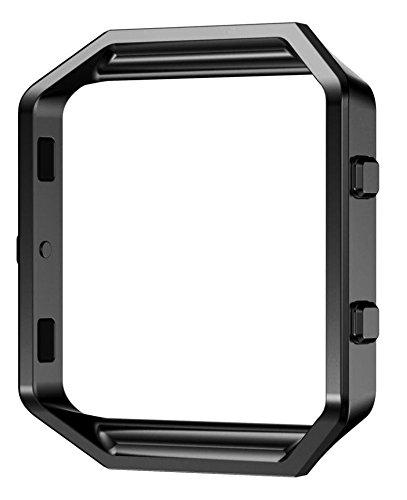 wearlizer Fitbit Blaze Marco Acero Inoxidable Marco de metal repuesto, color negro