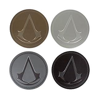 Assassin's Creed Metal Coasters, Tinplate, Multi-Colour, 1 x 9 x 9 cm