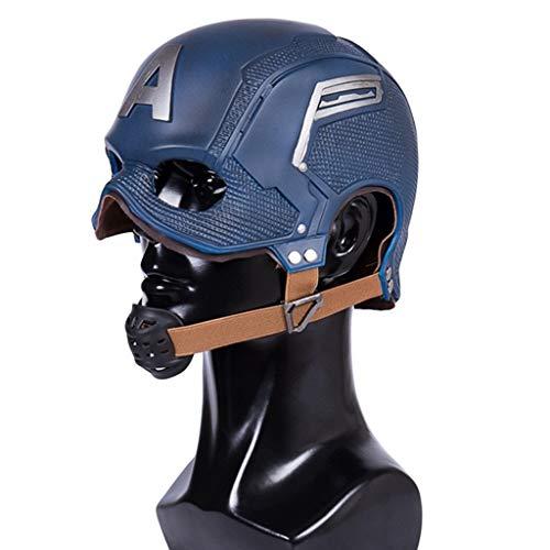 Yujingc Captain America Helm Filmshow über die Halloween-Helmmaske Masquerade Theme Party Cosplay für Kopfumfang 53-62cm,Blue,53cm