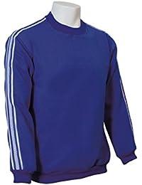 Jumar Sport - Sudadera básica deportiva, color: azul royal con lista blanca, talla: xxl