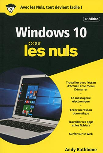 Windows 10, 4e Poche Pour les Nuls par Andy RATHBONE
