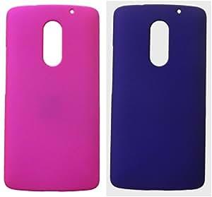 Toppings Pack of 2 Premium Rubberized Back Hard Case For Lenovo Vibe X3 - Multicolor