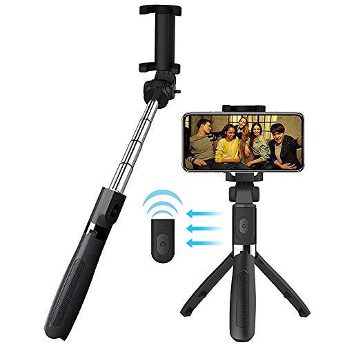 VEVICE Extensible Palo Selfie Trípode para iPhone XS MAX XR X 8 Plus 7 plus 6 6s, con mando a distancia inalámbrico Portable Mini Selfie Stick para Samsung Galaxy Huawei Mate 20 10 Lite Xiaomi Redmi