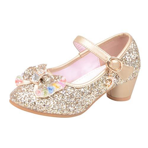 Meilleure Vente!Chaussures Princesse Fille,LuckyGirls Fille Chaussures Ballerine a Talon Paillettes Brillants Respirable Comfortabl