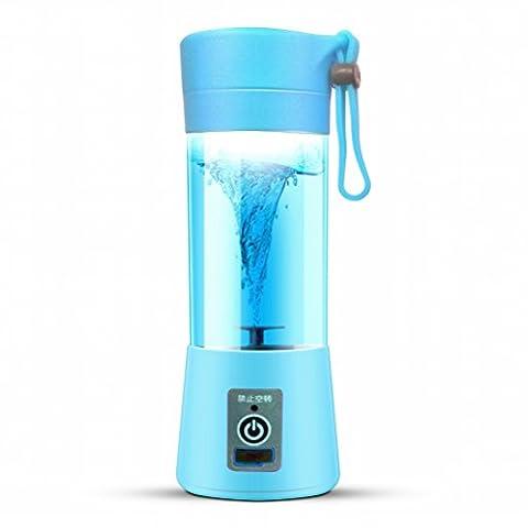 GCCI Juicer Electric Saft Cup Aufladung Juicy Cup Portable Mini Haushalt,Blau (Juicy Thong)