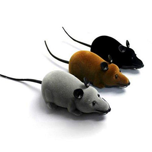 RC Elektronische Ratte Maus Spielzeug mit Fernbedienung Katzenspielzeug Cat Toy (Grau)