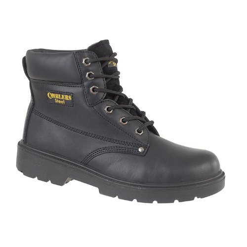 Amblers Safety Mens FS159 S3 Leather Safety Boots Black Black