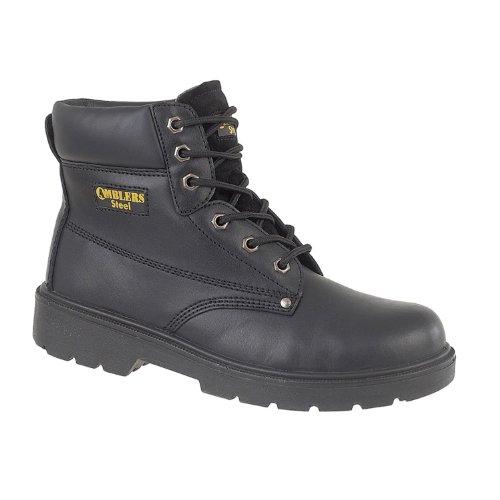 Amblers Safety Mens FS159 S3 Leather Safety Boots Black Noir