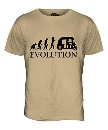 CandyMix Autorikscha Evolution Des Menschen Herren T Shirt Sand
