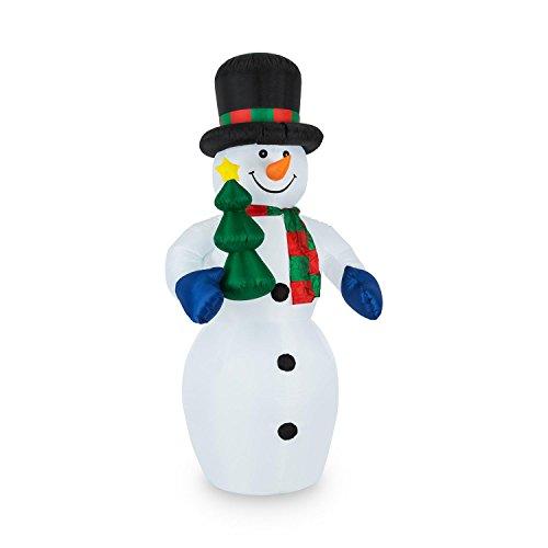 Oneconcept mr. frost • pupazzo di neve • decorazioni di natale • decorazione per il giardino • luci di natale • interni ed esterni • gonfiabile • illuminazione led • 240 cm • colorato