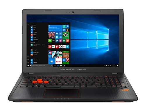 ASUS GL553VD-FY079T - Ordenador Portátil de 15.6' Full HD (Intel Core i7-7700HQ, 8 GB RAM, 1 TB HDD, Nvidia GeForce GTX 1050 de 4 GB, Windows 10 Home) Metal Negro - Teclado QWERTY Español