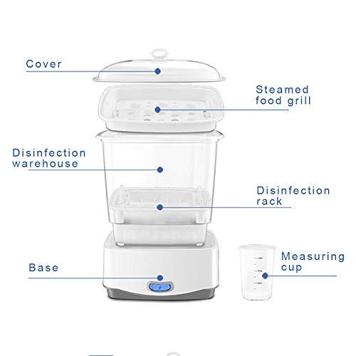 Sterilisator für babyflaschen Katze-Tatze Elektrischer 3-in-1 Dampfsterilisator, weiß - 8