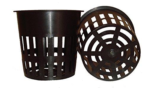 Lot de 25–10,2 cm rond filet ultra-résistant Cups Pots Large à lèvres Design – orchidées & # x2022 ; aquaponie & # x2022 ; L'aquaculture & # x2022 ; Hydroponie à fente en maille par CZ Jardin d'alimentation, 25 pack