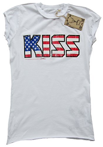 Weiss bacio ufficiale USA Logo stelle Amplified Damen T-shirt and Stripes Vintage bianco 42