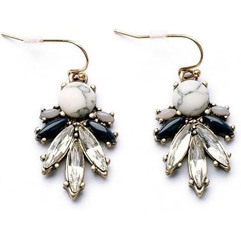 Orecchini Faux floreale di cristallo Pendant, floreale di cristallo orecchini di pendente per le donne, le