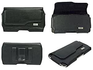 TOTTA Premium PU Leather Belt Pouch For Karbonn Titanium S99 BLACK