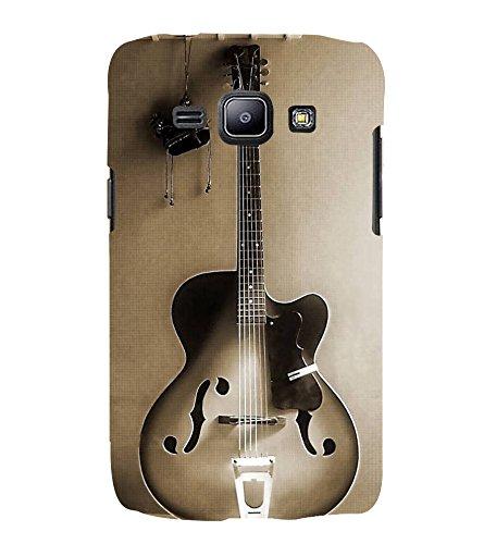 Fuson Designer Back Case Cover for Samsung Galaxy J1 (2015) :: Samsung Galaxy J1 4G (2015) :: Samsung Galaxy J1 4G Duos :: Samsung Galaxy J1 J100F J100Fn J100H J100H/Dd J100H/Ds J100M J100Mu (Guitar Electrical Guitar Black Guitar guitar With Strings Black electrical guitar)  available at amazon for Rs.199